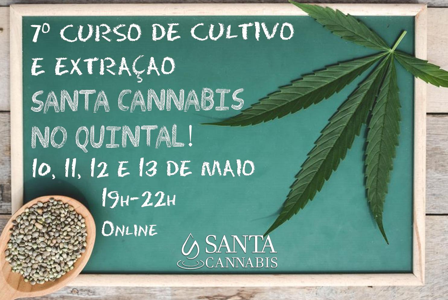 7º Curso de Cultivo e Extração Santa Cannabis no Quintal – INSCREVA-SE